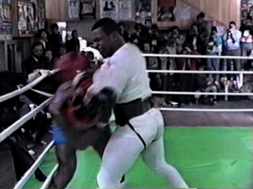 Mike Tyson sparring